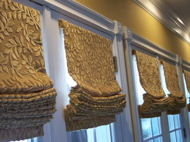 French Door Roman Shades. Roman Shades. To Roman Shades And Tall ...